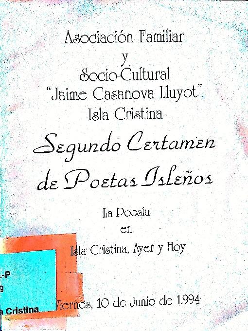 Isla Cristina poesia