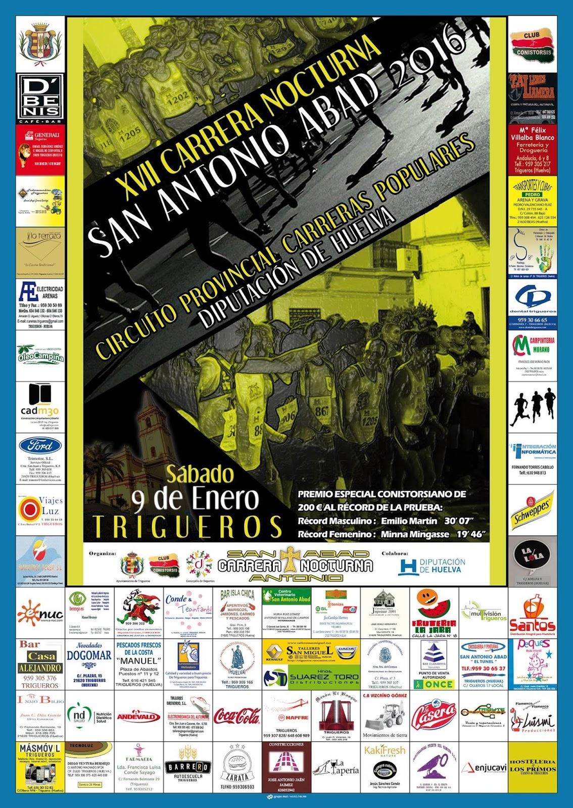 XVII Carrera Nocturna San Antonio Abad de Trigueros