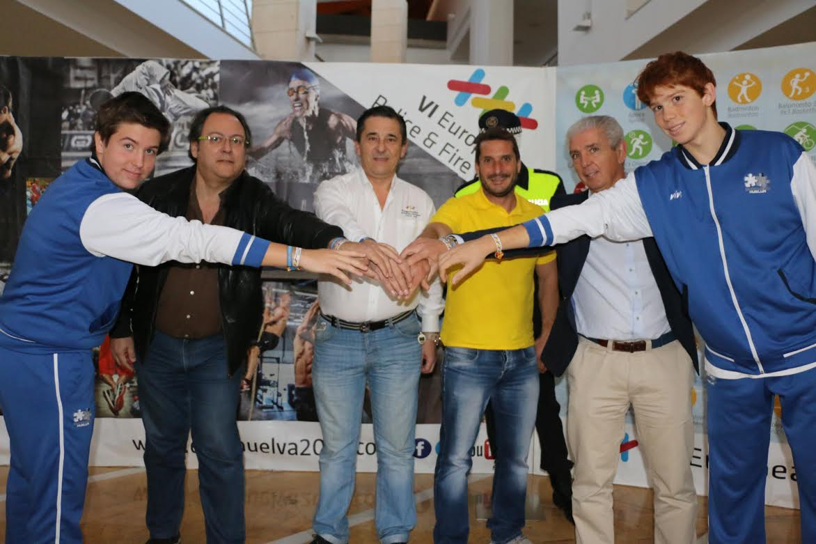 El club baloncesto ciudad de Huelva colaborará con los juegos europeo de Policia y Bomberos