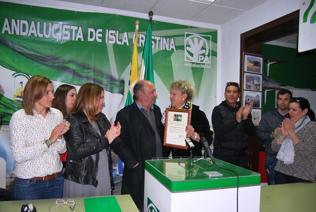 Los andalucistas isleños conmemoran el 4D