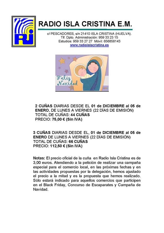 """Radio Isla Cristina, Realiza Una Campaña de Publicidad """"Al Alcance del Comercio Local"""""""