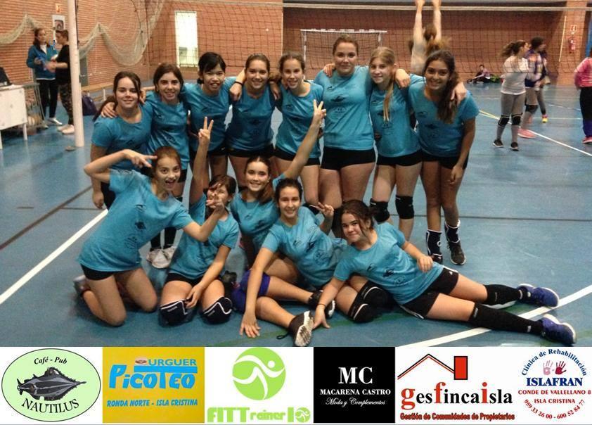 Segundo partido de liga para nuestras chicas del equipo infantil de Voleibol con victoria