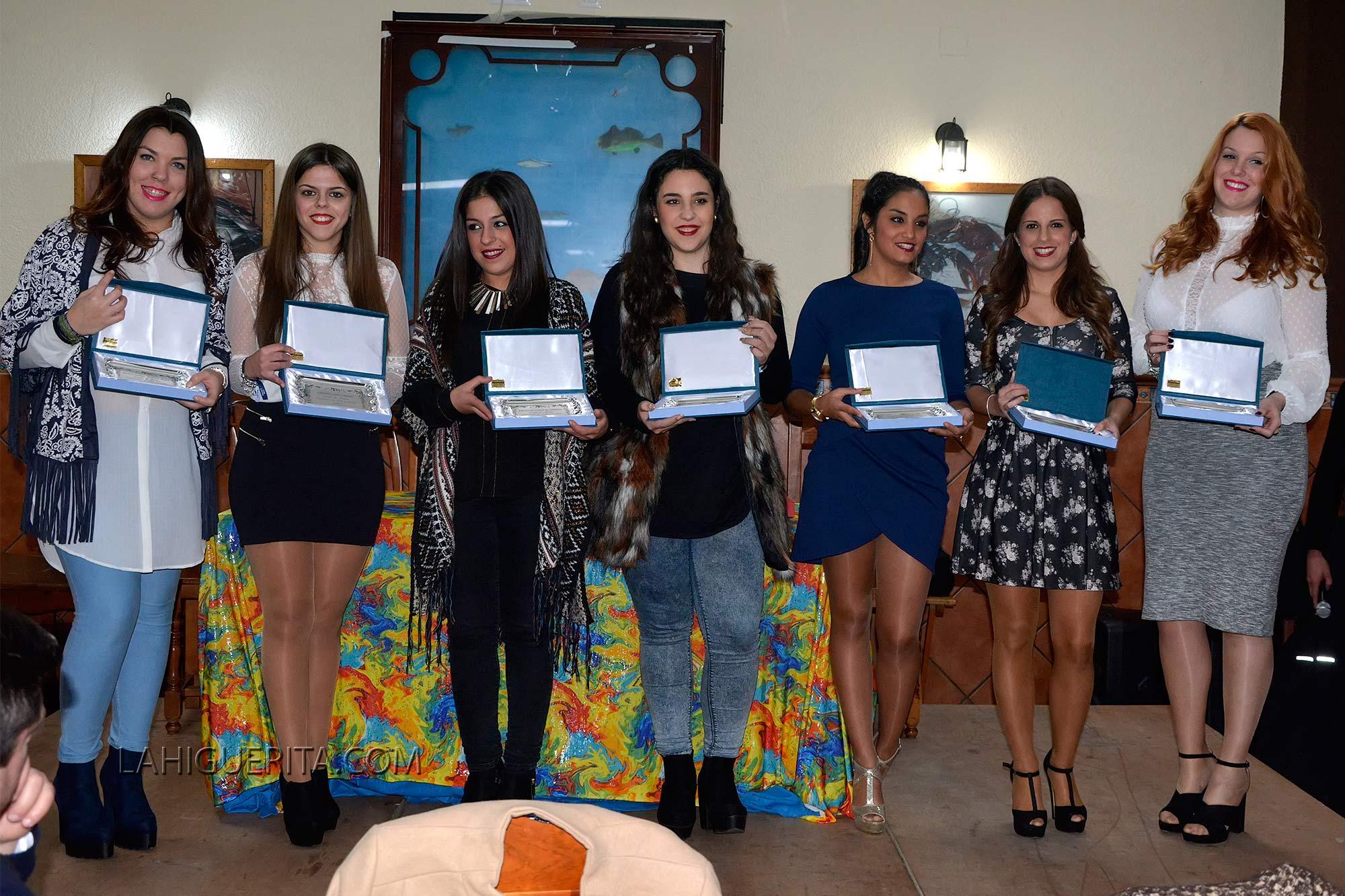 Comida de presentación a Damas y Reina del Carnaval de Isla Cristina 2016