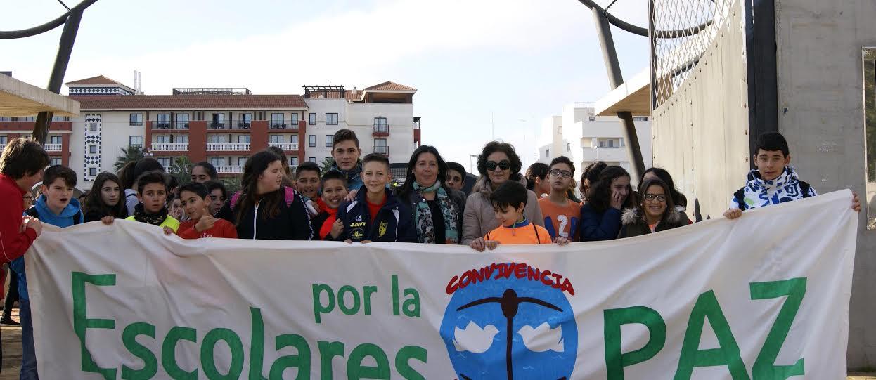 Los Escolares isleños, protagonistas de la Marcha por la Paz