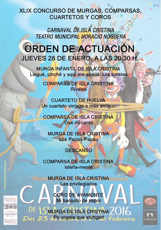 Isla Cristina inicia este jueves el Concurso de Agrupaciones