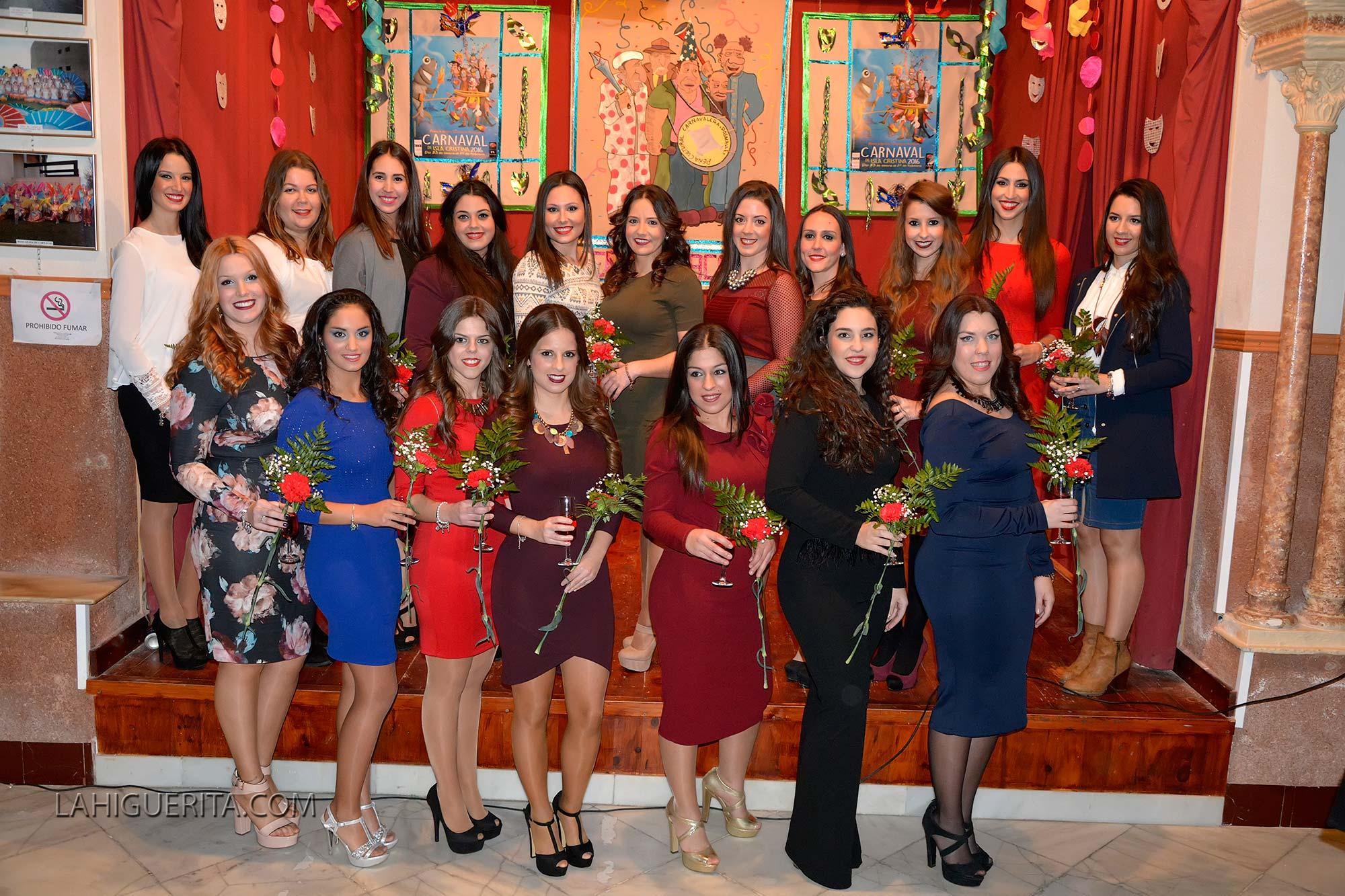 Recepción de las Reinas y Cortes de Honor Juvenil del Carnaval de Isla Cristina 2015