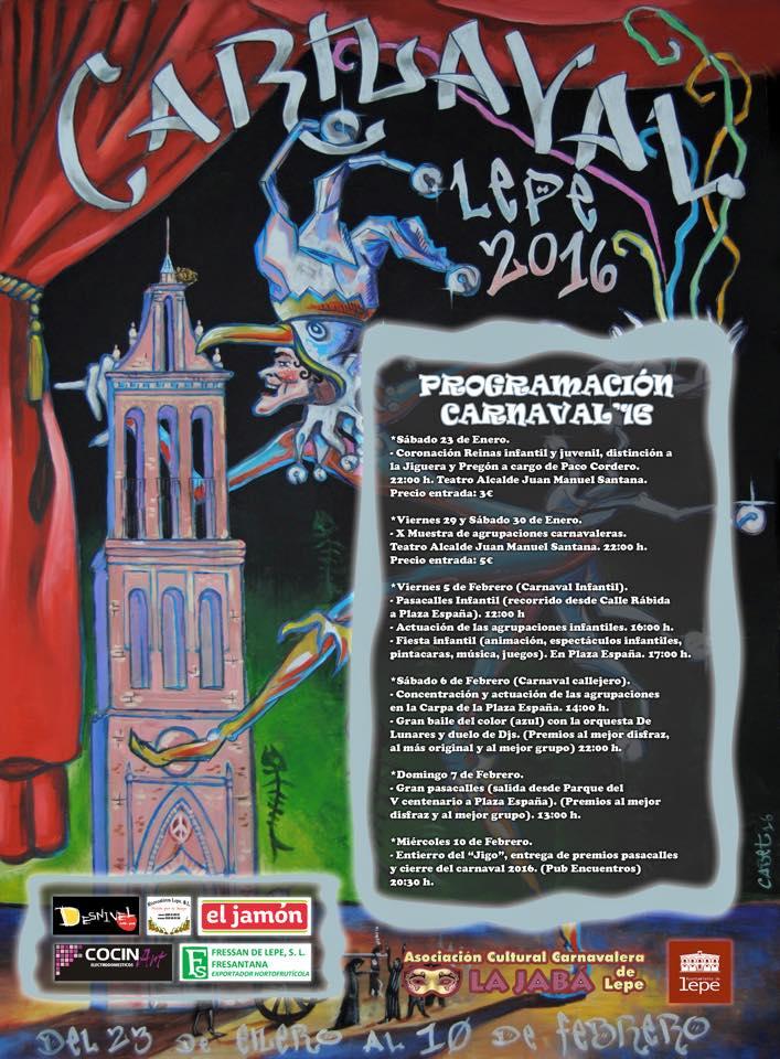 Programación del Carnaval de Lepe 2016