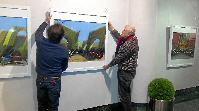 El pintor onubense Castro Crespo expone sus obras desde este jueves en la nueva sala en Seviilla de Fundación Caja Rural del Sur