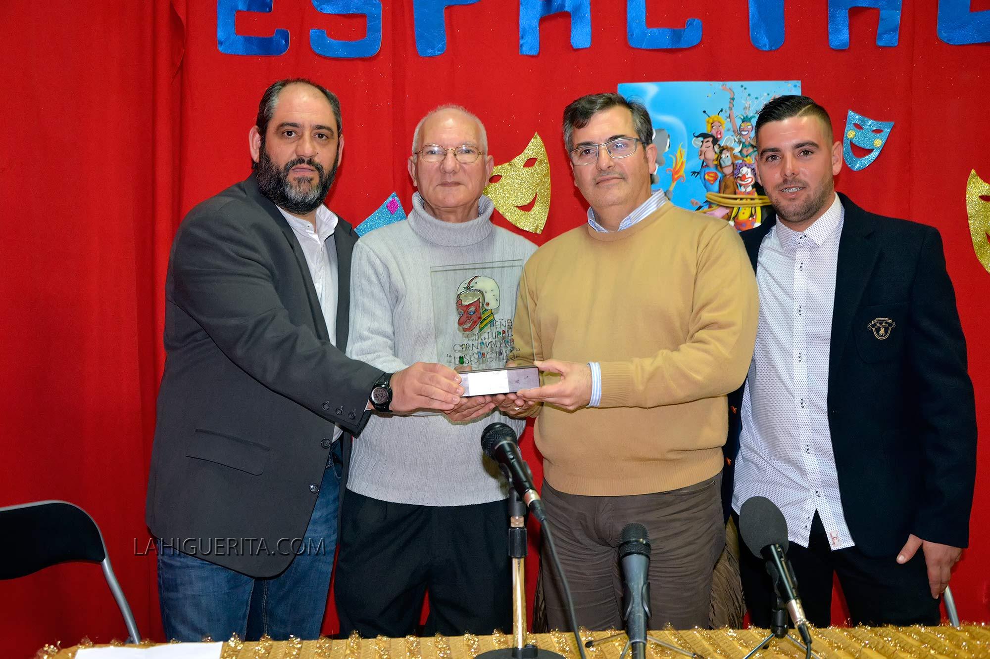 Premio Pepe Pérez a Ángel de los Santos Acosta 2016