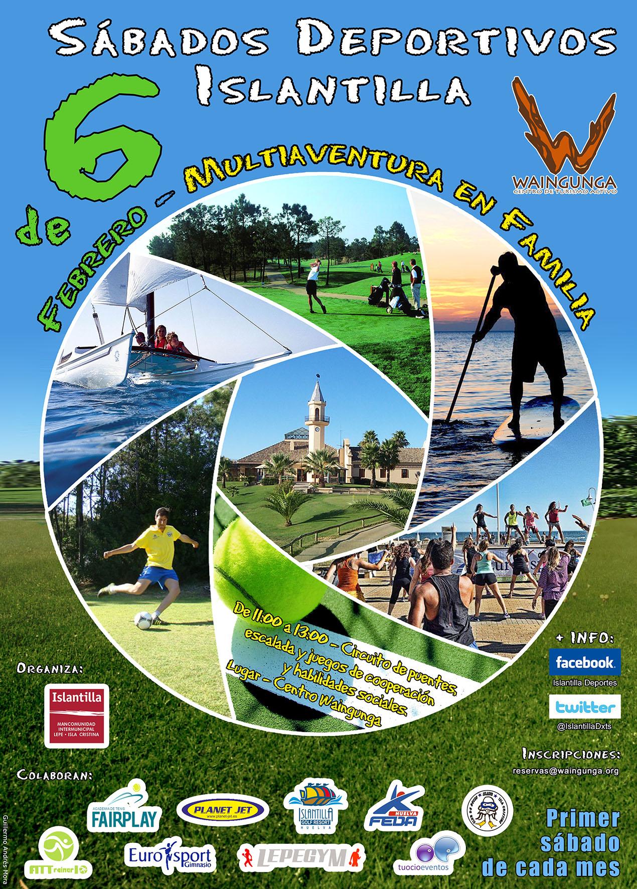 Islantilla organiza este fin de semana una jornada de multiaventura en familia dirigida por el Centro de Turismo Activo Waingunga dentro de su programa de Sábados Deportivos