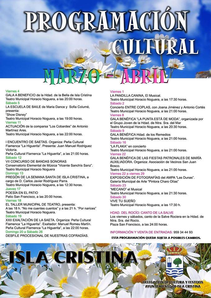 programacion cultural marzo abril 2016