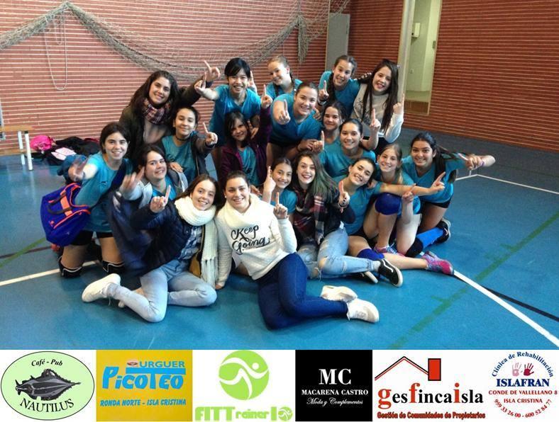 Las infantiles del C.D. voleibol Isla Cristina se proclaman primeras del G2 de la zona sur