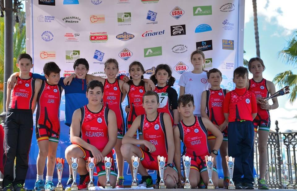 La Cantera onubense suma 7 podios en el Duatlón de Chiclana
