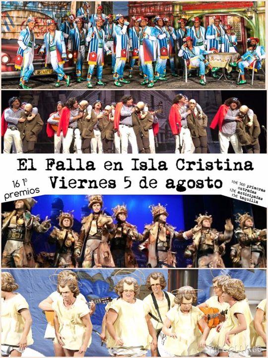 El Falla con el Carnaval gaditano en Isla Cristina