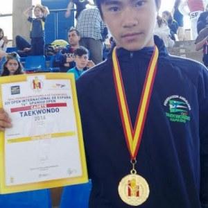 Nacho Colombo compite por el oro nacional de Taekwondo