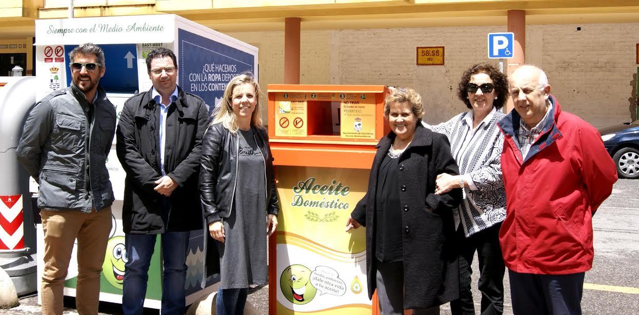 Instalados en Isla Cristina los contenedores de recogida de aceite usado de uso doméstico