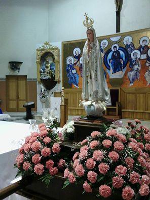 Procesión en Isla Cristina de la Virgen de Fátima