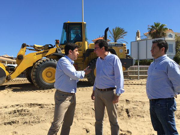 """El PP destaca la """"celeridad"""" de las obras de emergencia en las playas"""