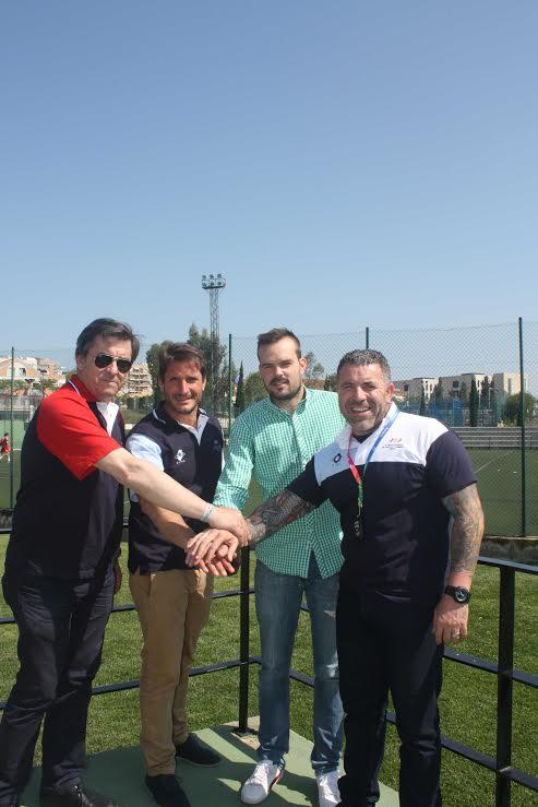 Los Juegos Europeos de Policías y Bomberos y el Saladillo firman un convenio para el uso de las instalaciones