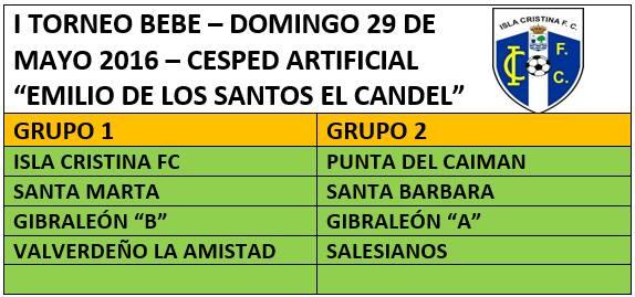 """El Domingo se Celebra en Isla Cristina el """"Primer Torneo Bebé"""""""
