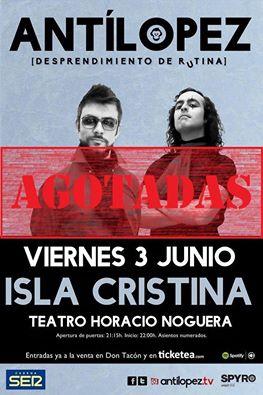 Concierto del dúo isleño Antílopez en Isla Cristina