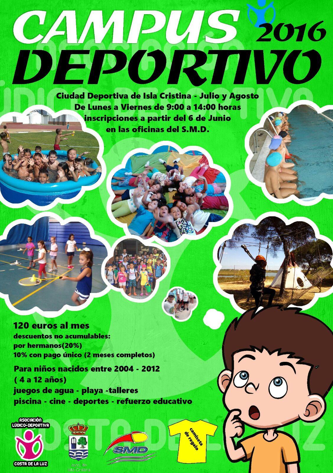 Abierto el plazo para el Campus Deportivo en Isla Cristina