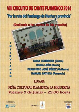 Circuito de Cante Flamenco 2016 en la Peña Flamenca la Higuerita