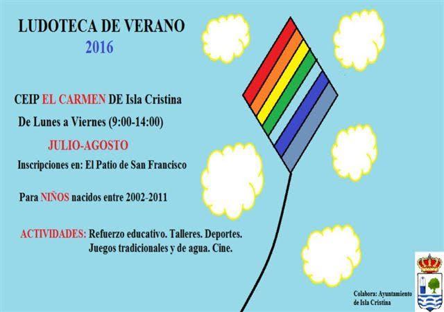 Abierto el Plazo de Inscripción de la Ludoteca de verano 2016 en Isla Cristina