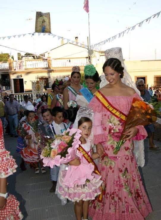 Ofrenda floral pozo del Camino