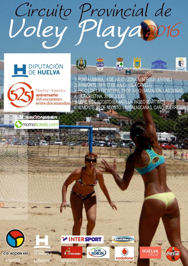 Adolfo–Paco y Navarro-Salvago , ganadores del Circuito Provincial de Voley Playa celebrado en Isla Cristina
