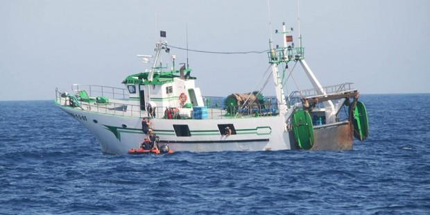 Interceptado un pesquero de Punta del Moral por pesca ilegal en aguas Lusas