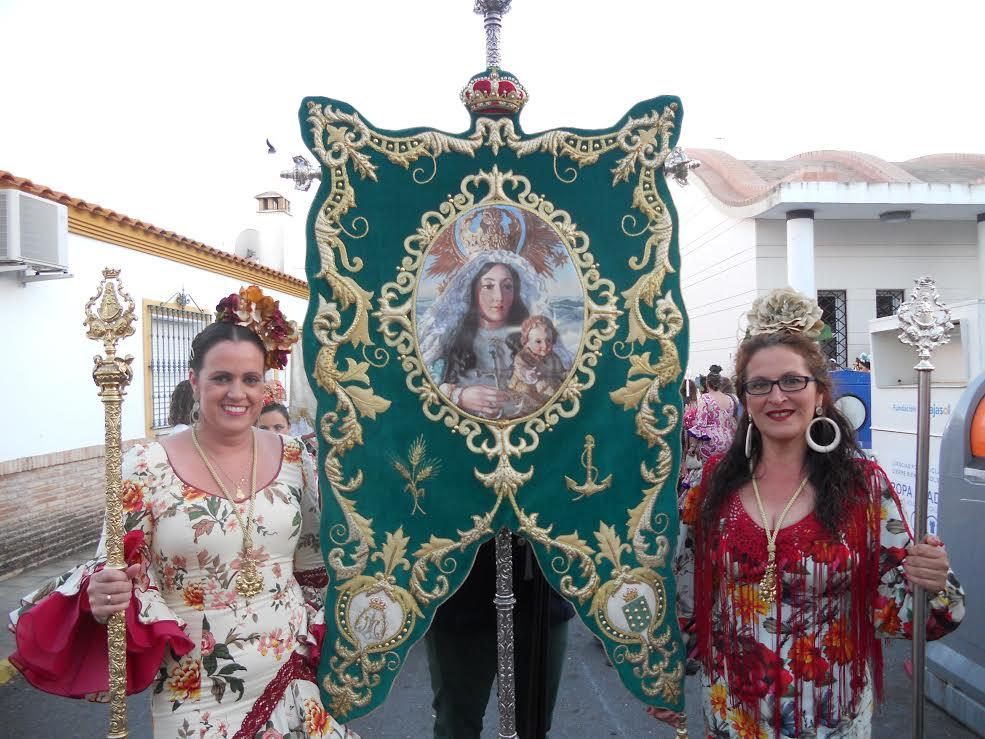 Simpecado de la Virgen de la Esperanza de La Redondela