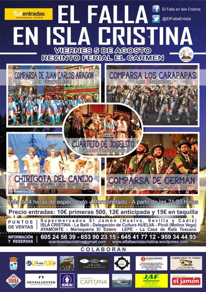 El Falla de Isla Cristina, este lunes en el programa de Canal Costa 'Al Sol del Sur'