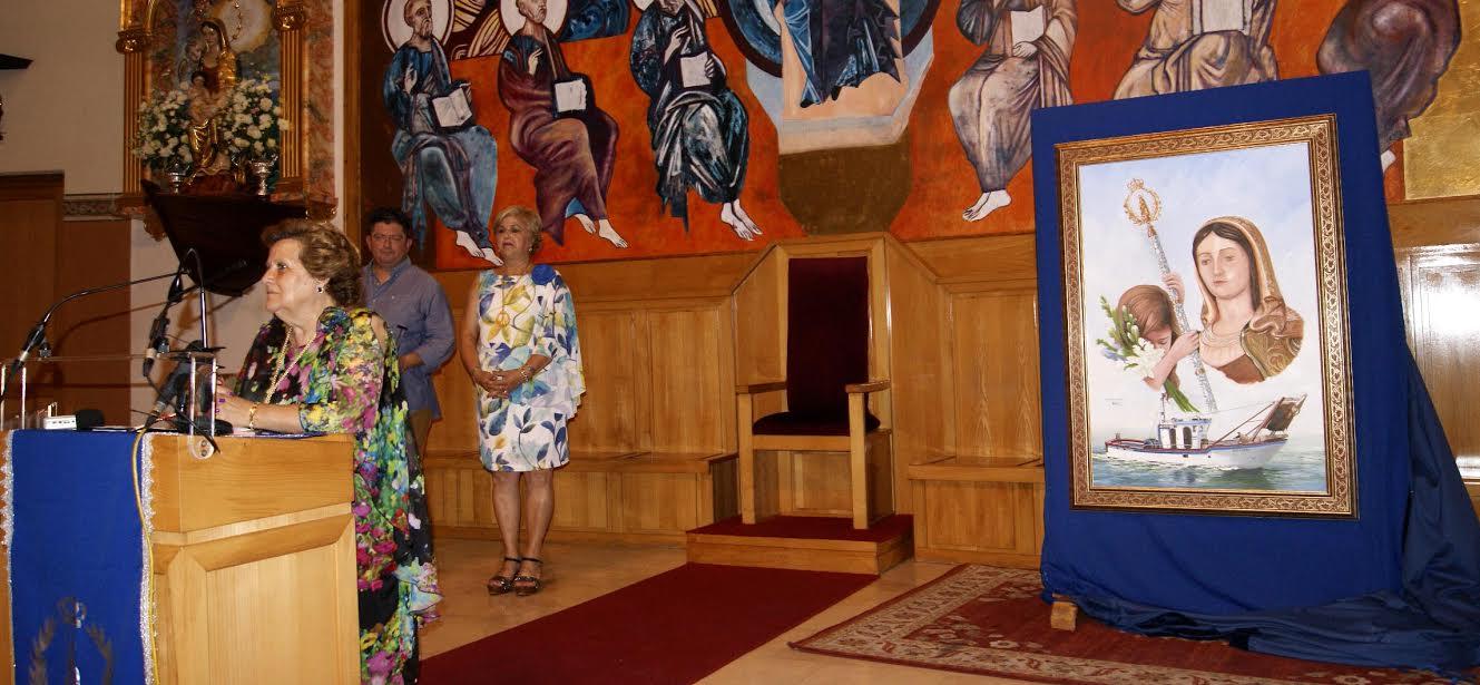 Presentado la obra que protagonizará el Cartel anunciador de las Fiestas en Honor a la Virgen del Mar de la Punta del Caimán