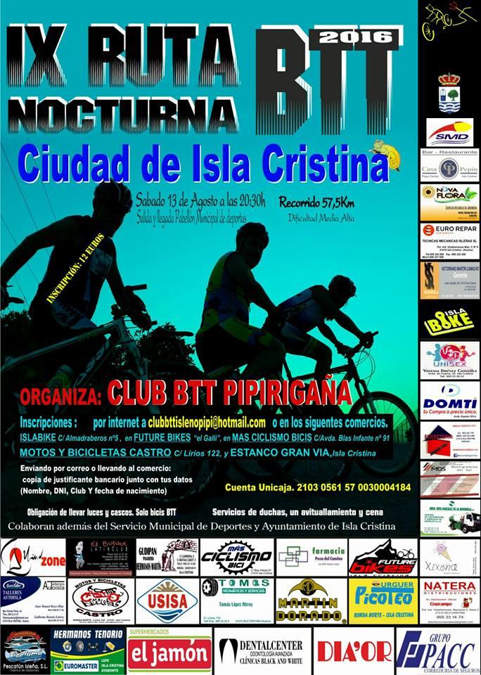 IX Ruta Nocturna BTT Ciudad de Isla Cristina