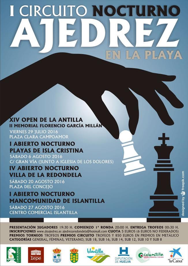 Presentación del I Abierto Nocturno de Ajedrez 'Mancomunidad de Islantilla'