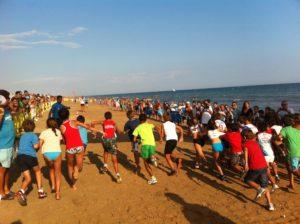 La playa de Islantilla se prepara para acoger la XVI Edición de su Tradicional Milla Mojada