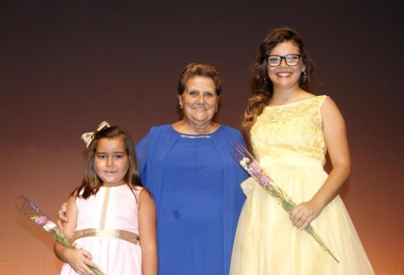 Natalia Díaz y Cristina Nieves, Reinas Infantil y Juvenil de las Fiestas en Honor a San Francisco de Asís