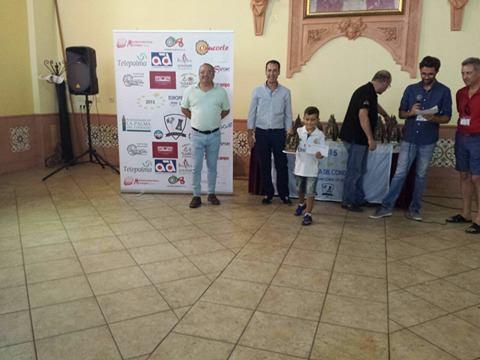 """Kevin Irala campeón en la categoría Sub 8 en el III Torneo Internacional de Ajedrez """"Ciudad de La Palma del Condado"""""""