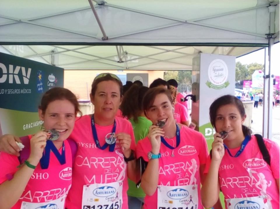 Las onubenses suben al podio en la Carrera de la Mujer de Sevilla