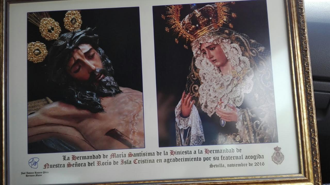 Acogida a la Hermandad de María Santísima de la Hiniesta en el Rocío