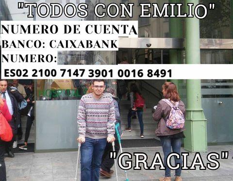 Emilio Jesús necesita de la solidaridad de Isla Cristina para poder tener una vida normal