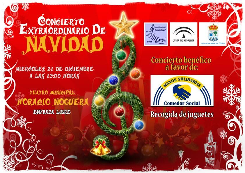 Concierto solidario de Navidad del Conservatorio de Isla Cristina