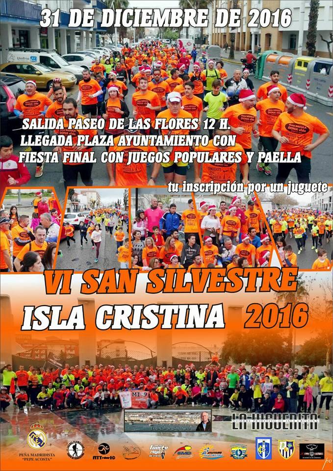 Isla Cristina despedirá el año este sábado con su San Silvestre 2016