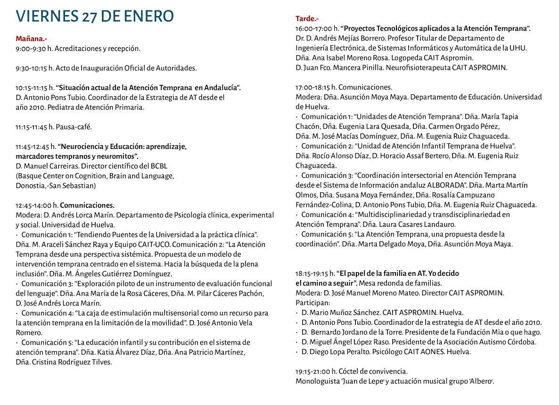 Más de 300 personas participarán en Huelva en el I Congreso Nacional de Atención Temprana de Aspromin