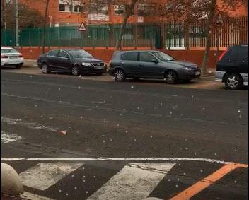 La nieve reaparece en Isla Cristina después de 63 años