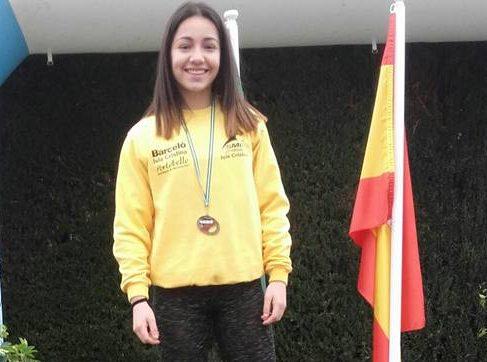 Ines Sequera subcampeona cadete andaluza de jabalina
