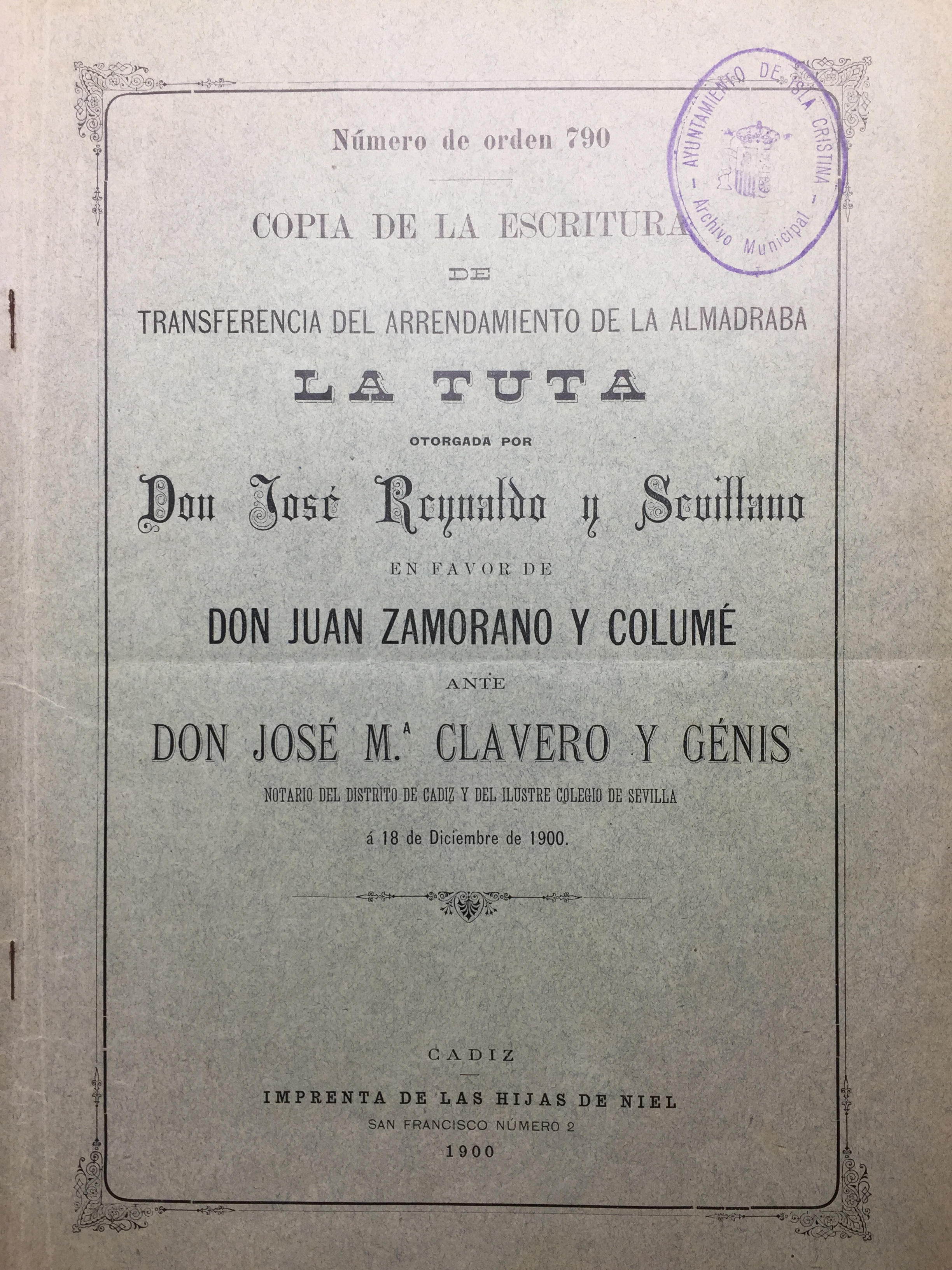 """Documento Ayuntamiento de Isla Cristina del Mes de Febrero de 2017 – La Almadraba de """"La Tuta"""""""