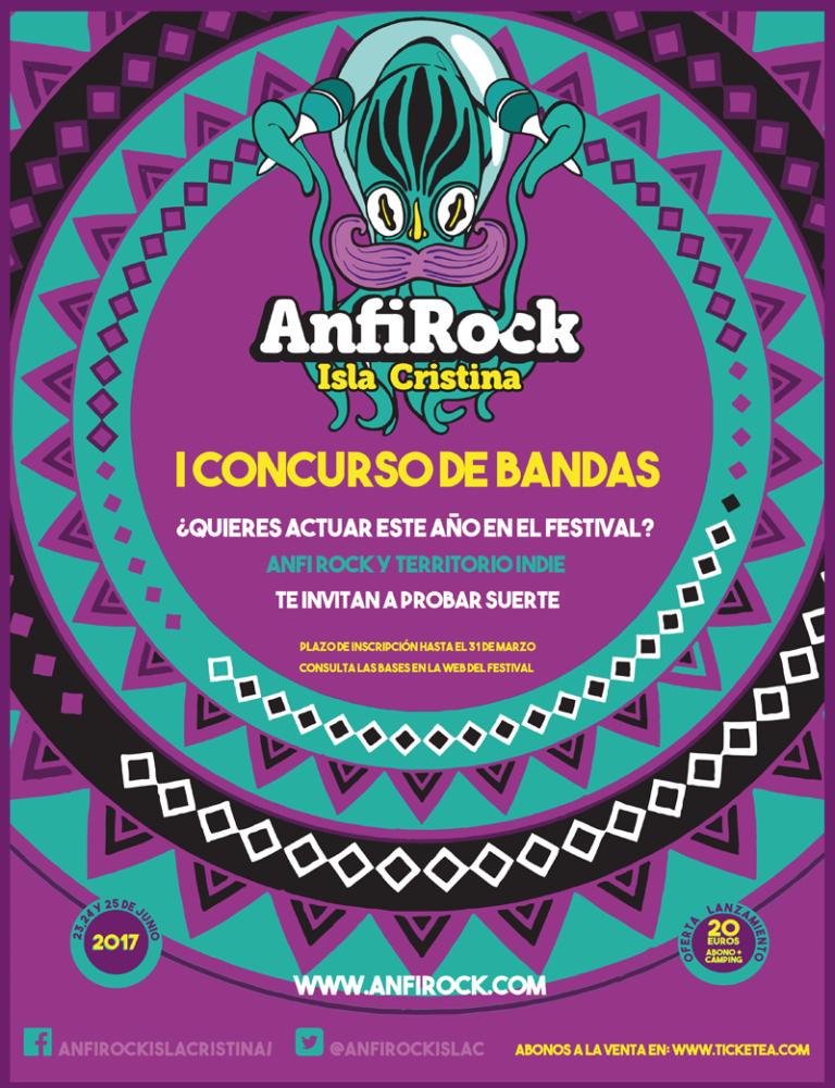 I Concurso de Bandas AnfiRock/ Territorio Indie en Isla Cristina