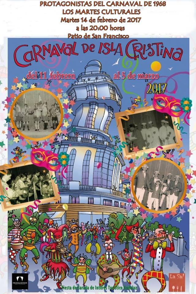 Protagonistas del Carnaval de 1968 en los Martes Culturales de Isla Cristina